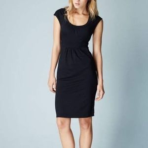 Boden WH978 Black Casual Weekend Sheath Dress 4L